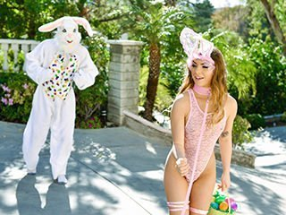 Summer Brooks Mini Easter Bunny Babe Gets Slammed